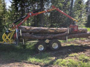 Tømmerhenger 4wd 3,5m